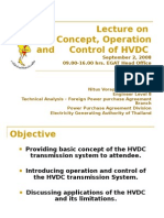 Lecture on Basic Concept Operation and Control of HVDC