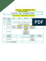 Calendario semestre 2011-1