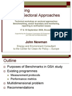 John NEWMAN - Bench Marking for Global Sectoral Approaches
