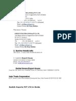 LIST of Export Houses in NOIDA