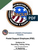 PowerPoint Presentation on Hiring USPS PSEs