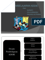 Model Desain Pembelajaran Addie