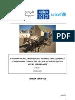 Situation socioéconomique des ménages dans le District d'Ambovombe et impact de la crise sociopolitique au niveau des ménages (PADR, ROR, UNDP, UNICEF/2011)