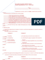 3rd Periodical Exams 2011
