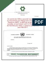 Un comité de l'ONU a accordé l'accréditation au mouvement pro-Hamas anti-israélien FreePalestine (MFP).