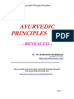 Sample Ayurvedic Principles Revealed