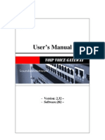 Soundwin Gateway User Manual Uni