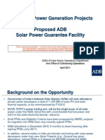 ADB Solar Power Guarantee Facility