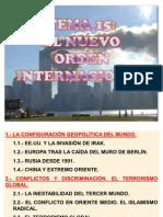 15.- El Nuevo Orden Internacional