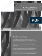 Getting Married Brochure Black and White
