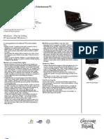 HP Pavilion Dv4-2112la Entertaiment PC