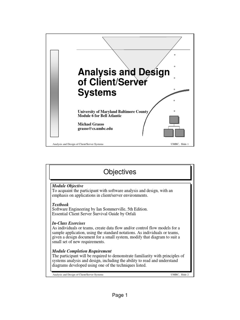 Analysis And Design Of Client Server Systems Software Prototyping Class Computer Programming