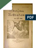 Die Prophezeiung des Nostradamus über das Jahr 1886