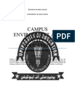 Campus Environment and Quality of Education