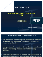 Lecture 11 Lifting of the Corporate Veil