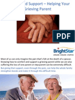 Comfort and Support – Helping Your Grieving Parent
