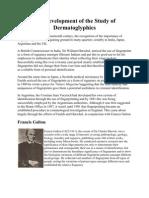 The Development of the Study of Dermatoglyphics
