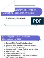 Practical Examples of Real Life Marketing Research Projects
