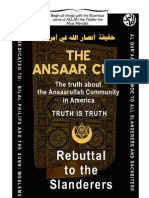 Ansaar Cult (Rebuttal to the Slanderers)