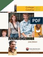 Waubonsee Catalog 2011-2012