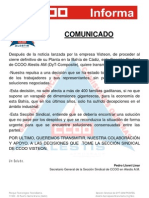 Comunicado apoyo Visteon 23-06-2011