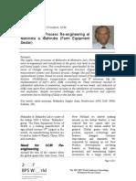 Paper SCM Re Engineering at Mahindra
