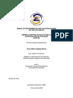 Manual de Procedimientos Para Auditoria Interna