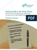 Putting Health in the Policy Picture - DH - 2010