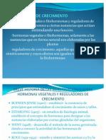 HORMONAS VEGÉTALE Y OTROS REGULADORES DE CRECIMIENTO