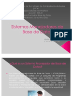 Sistemas Manejadores de Base de Datos