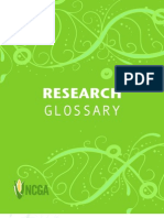 Research Glossary June 2011