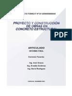 1753-2003 PROYECTO Y CONSTRUCCIÓN DE OBRAS EN CONCRETO ESTRUCTURAL. ARTICULADO