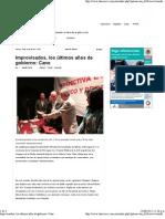 10-06-2011 Improvisados, los últimos años de gobierno