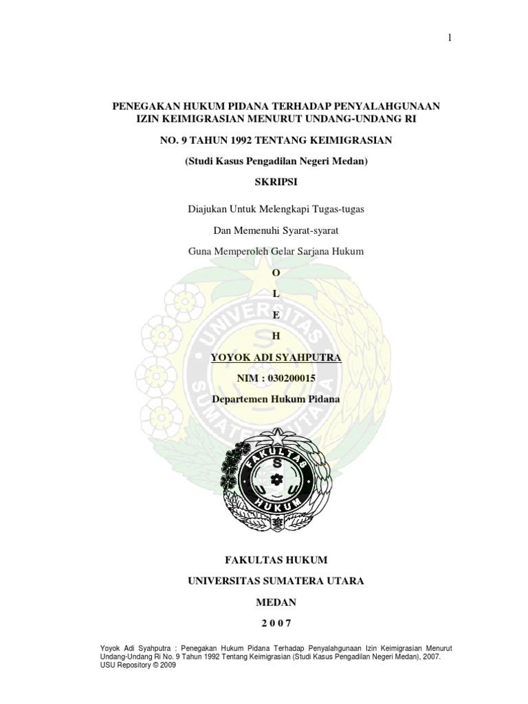 Judul Skripsi Hukum Pidana Tentang Lalu Lintas Kumpulan Berbagai Skripsi