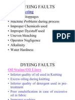 Dyeing Faults