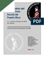 Propuestas del I FSPR (mayo 2007)