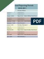 Proposed Grade Reporting Periods 2010-2011