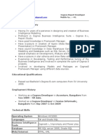 cognos 3 exp resume prem