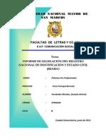 Informe de legislación RENIEC