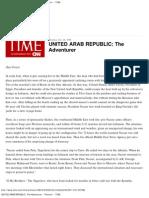 United Arab Republic_ the Adventurer -- 1958 -- Time