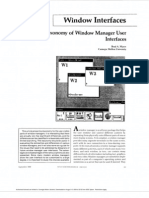 A Taxonomy of Window Manager User Interfaces