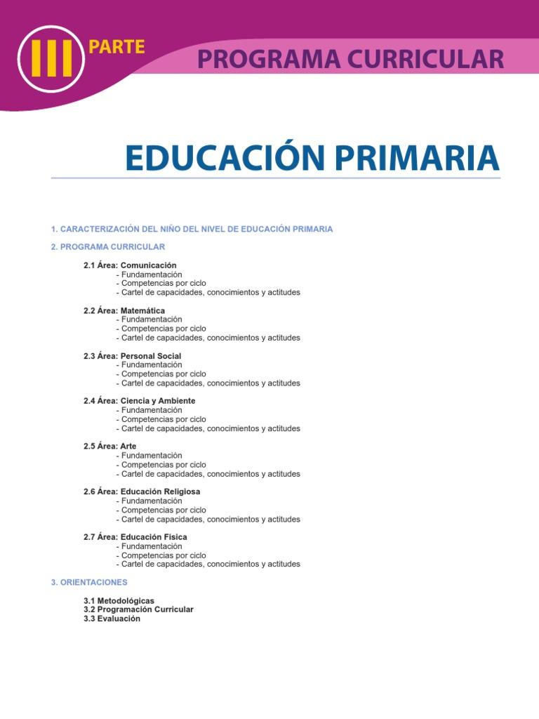 Dcn primaria for Diseno curricular primaria