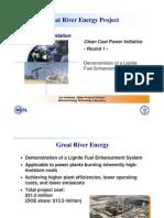 Great River Energy- Coal Creek Station Rnd 1 Projet Presenta