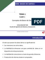 Clase 1- Conceptos de Base de Datos