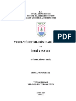 Yerel Yonetimlerin Idari Ozerkligi Ve Idari Vesayet Administrative Autonomy of Local Governments and Administrative Tutelage