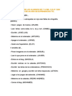 EVALUACIÓN DE LOS ALUMNOS DE 1º A DEL C