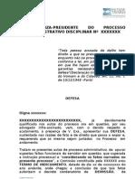 EXMA JUIZA-PRESIDENTE DO PROCESSO ADMINISTRATIVO DISCIPLINAR Nº  XXXXXXX