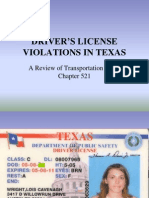 Fagen - Texas Drivers License Offenses