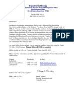 DOE notice of 2011 SPR sale