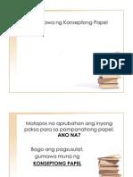 Konseptong Papel Sa Filipino